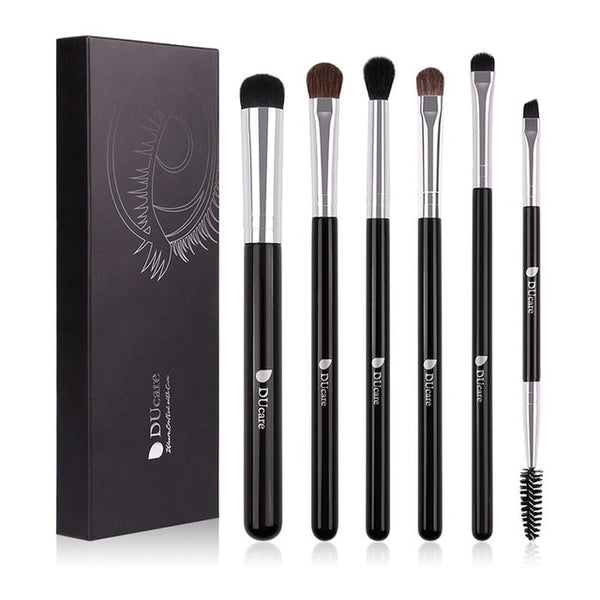 DUcare Eyeshadow Brush 6PCS Makeup Brushes Blending Eyebrow Brush Nature Bristles Synthetic  Hair Eye Shadow Brush Set - The Brush Brand