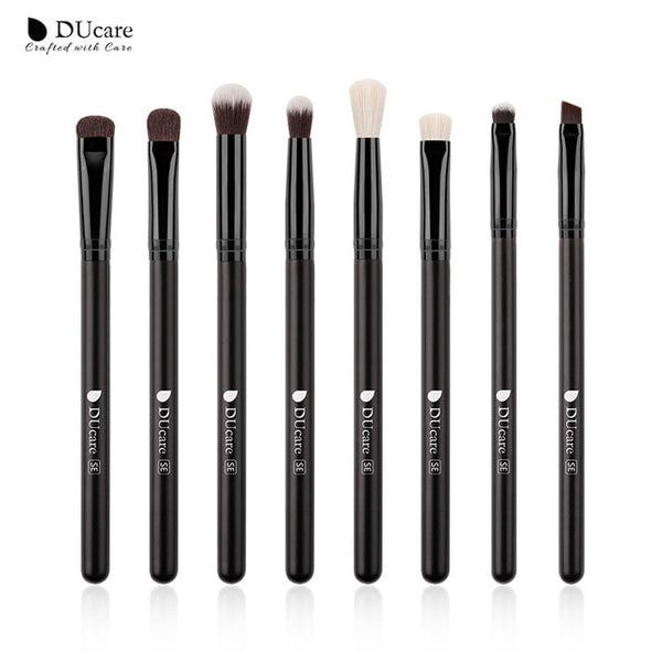 DUcare Eyeshadow Brush 7PCS Makeup Brushes Blending Eyebrow Brush Nature Bristles Synthetic  Hair Eye Shadow Brush Set - The Brush Brand