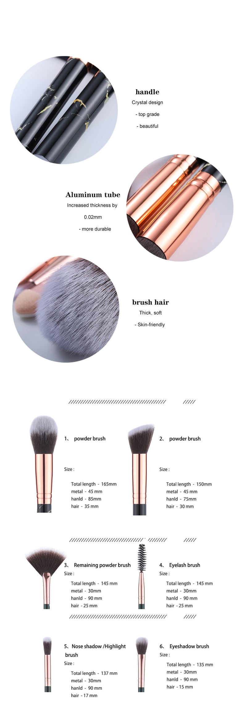5/15Pcs Makeup Brushes Tool Set Cosmetic Powder Eye Shadow Foundation Blush Blending Beauty Make Up Brush - The Brush Brand