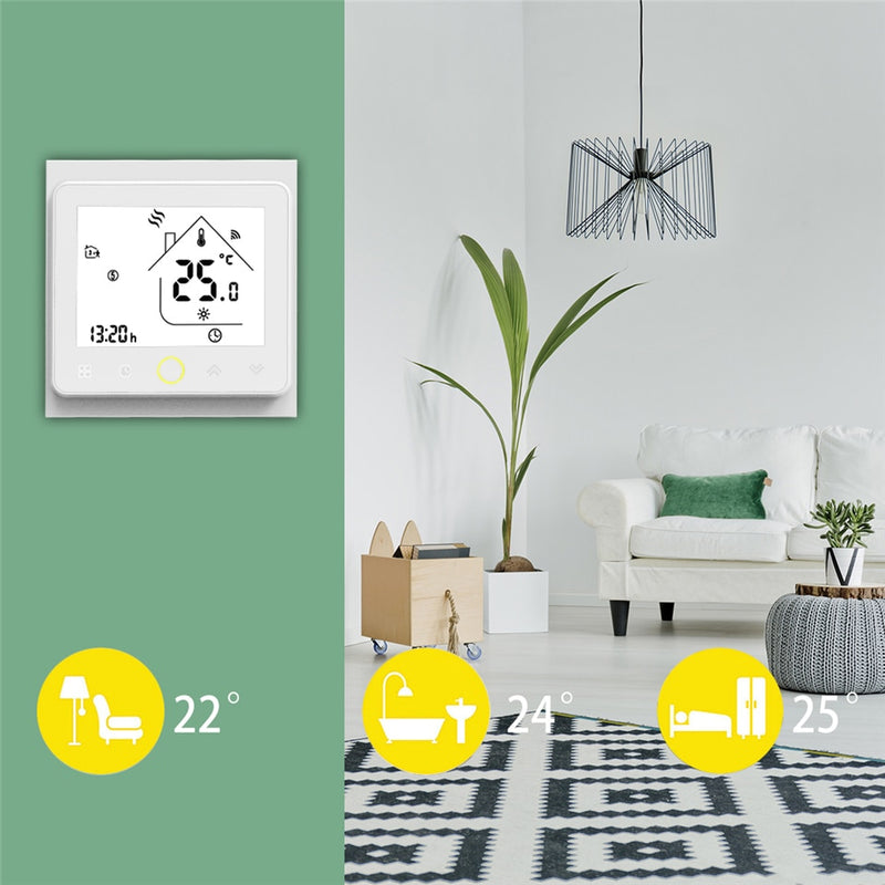 WiFi Smart Thermostat Temperature Controller for Water/Electric floor Heating Water/Gas Boiler - The Brush Brand
