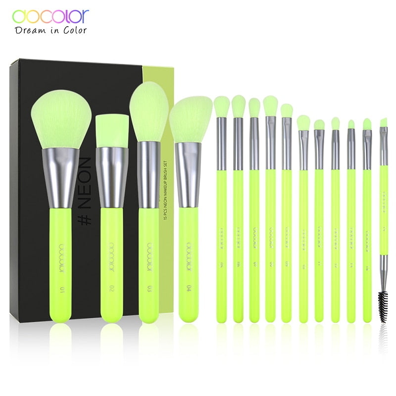 10/pc Makeup Brushes  eye Blending Contour - The Brush Brand