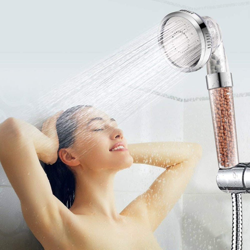 3 Function Adjustable Jetting Shower Head Bathroom High Pressure Water Handheld Saving Filter SPA Shower Heads with box - The Brush Brand