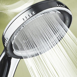 1PC Pressurized Nozzle Shower Head ABS Bathroom Accessories High Pressure Water Saving Rainfall Chrome Shower Head - The Brush Brand