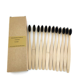 Biodegradable Eco-Friendly Bamboo Toothbrush 12 Pack - The Brush Brand