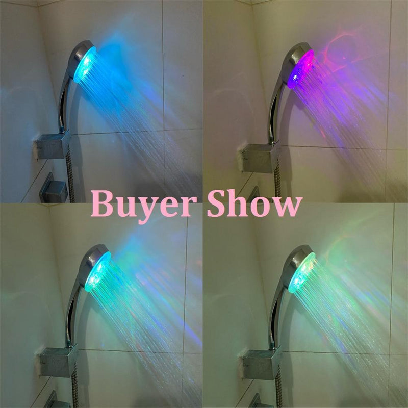 LED Shower Head 7 Color Changing Adjustable Shower Head - The Brush Brand