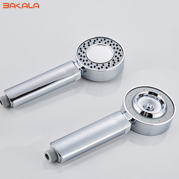 Double-sided Dual Function Shower Head Water Saving Round ABS Chrome Booster Bath Shower High Pressure Handheld Hand Shower - The Brush Brand