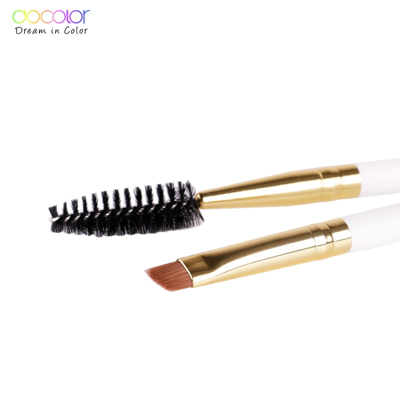 Docolor  Eyebrow Brush+Eyebrow Comb beauty eyebrow brush professional makeup brushes for eye Brow Brush blending eye - The Brush Brand