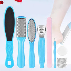 8pcs / Set Pedicure Machine Manicure Foot Care Tool Exfoliating Prevent Dead Skin Manicure Feet Care Tool Set Foot Scrub - The Brush Brand