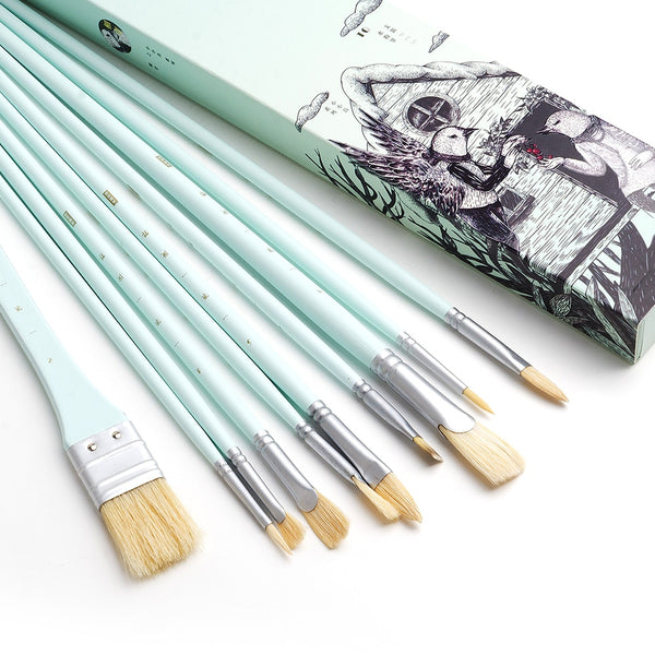 10PCS Paint Brush Set - The Brush Brand