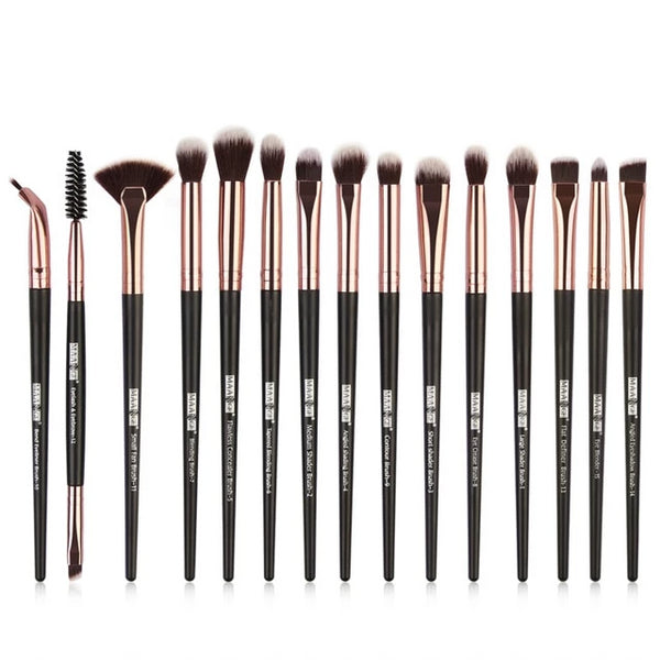 15PCS Makeup Brushes - The Brush Brand