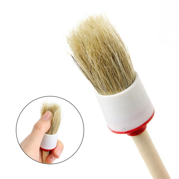 1Pcs  Car  Wheel Wood Handle Brushes - The Brush Brand