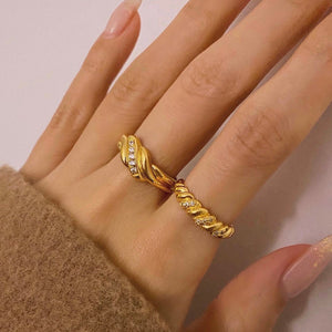 ABBIE PAVED ROPE RING
