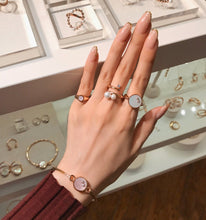 Load image into Gallery viewer, AUDREY GEMSTONE PINKY SIGNET RING