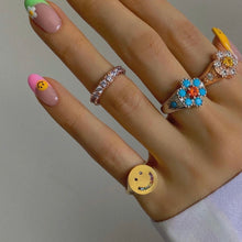 Load image into Gallery viewer, SMILE FACE UNICORN PINKY SIGNET RING