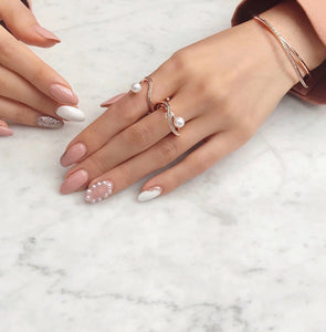 ANILLO ZIMMERMAN WAVE PEARL PAVED