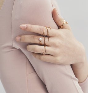 ANILLO INFINITY PEARL PAVE DBL TWIST