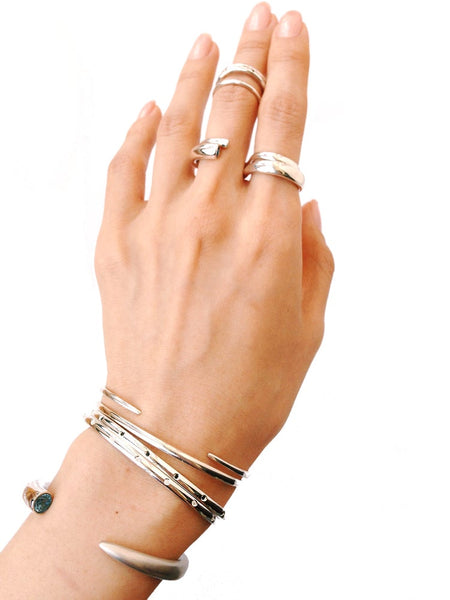SMALL 'S' LINE DBL FINGER RING