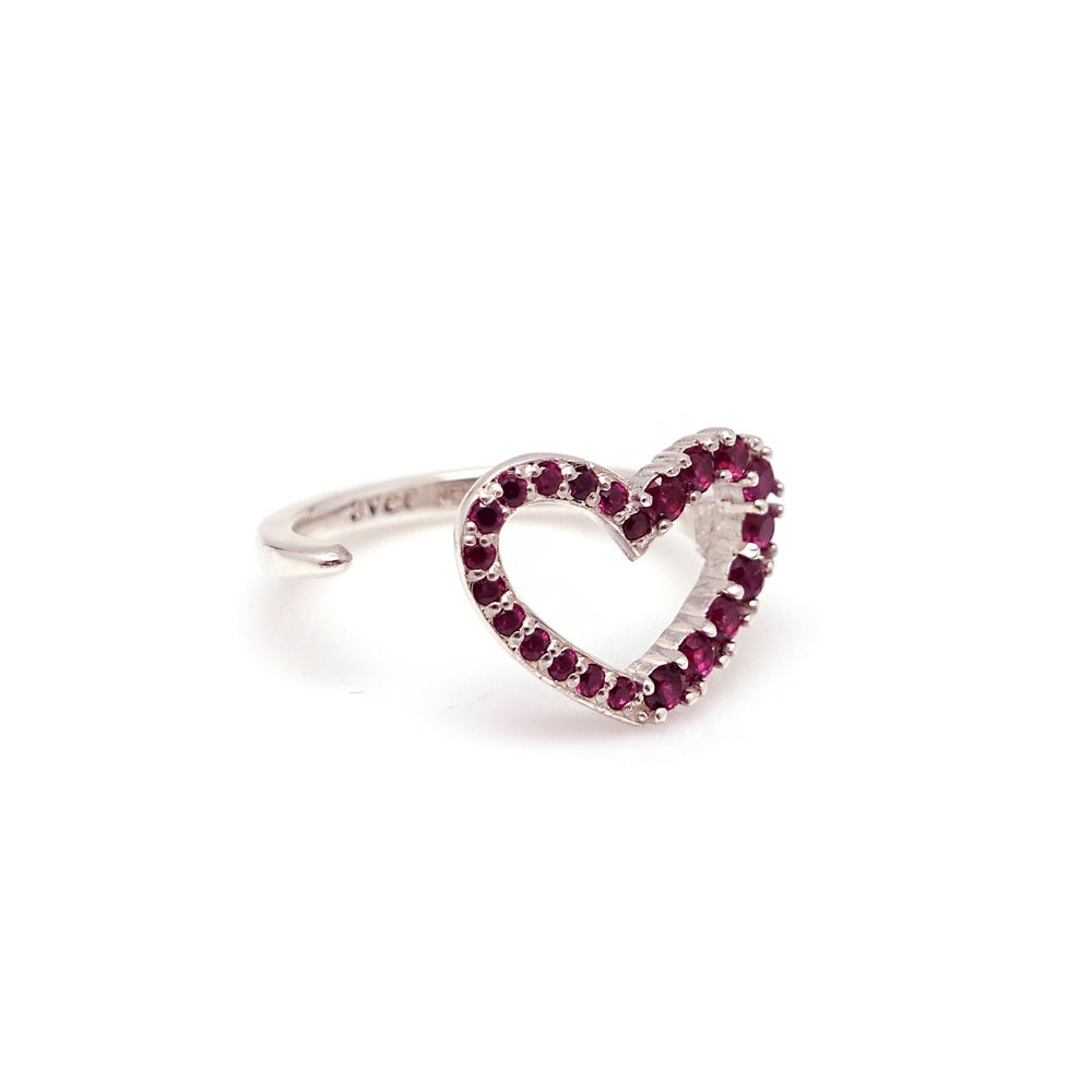 NINE HEART ALL RHINESTONE RING