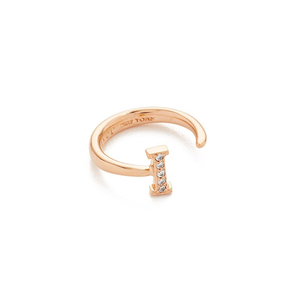 'I' letter knuckle open ring