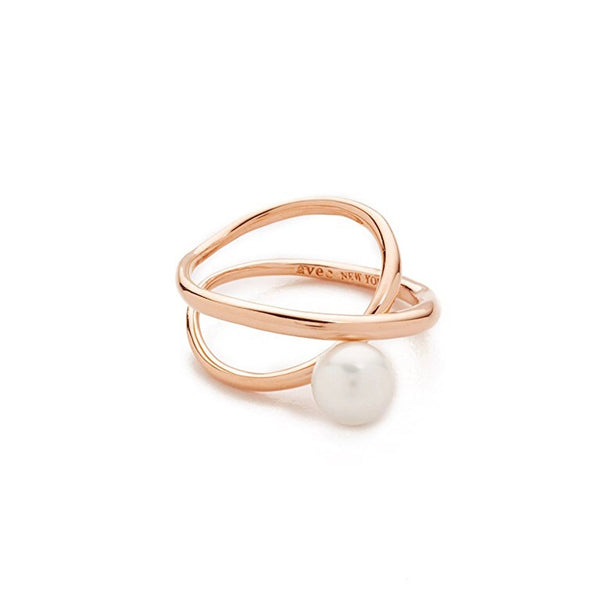 'X' LINE PEARL RING