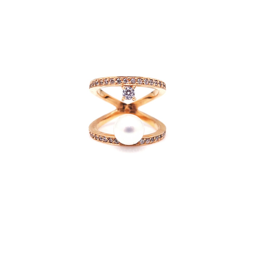 SEREIN 1 PEARL STONE PAVE RING