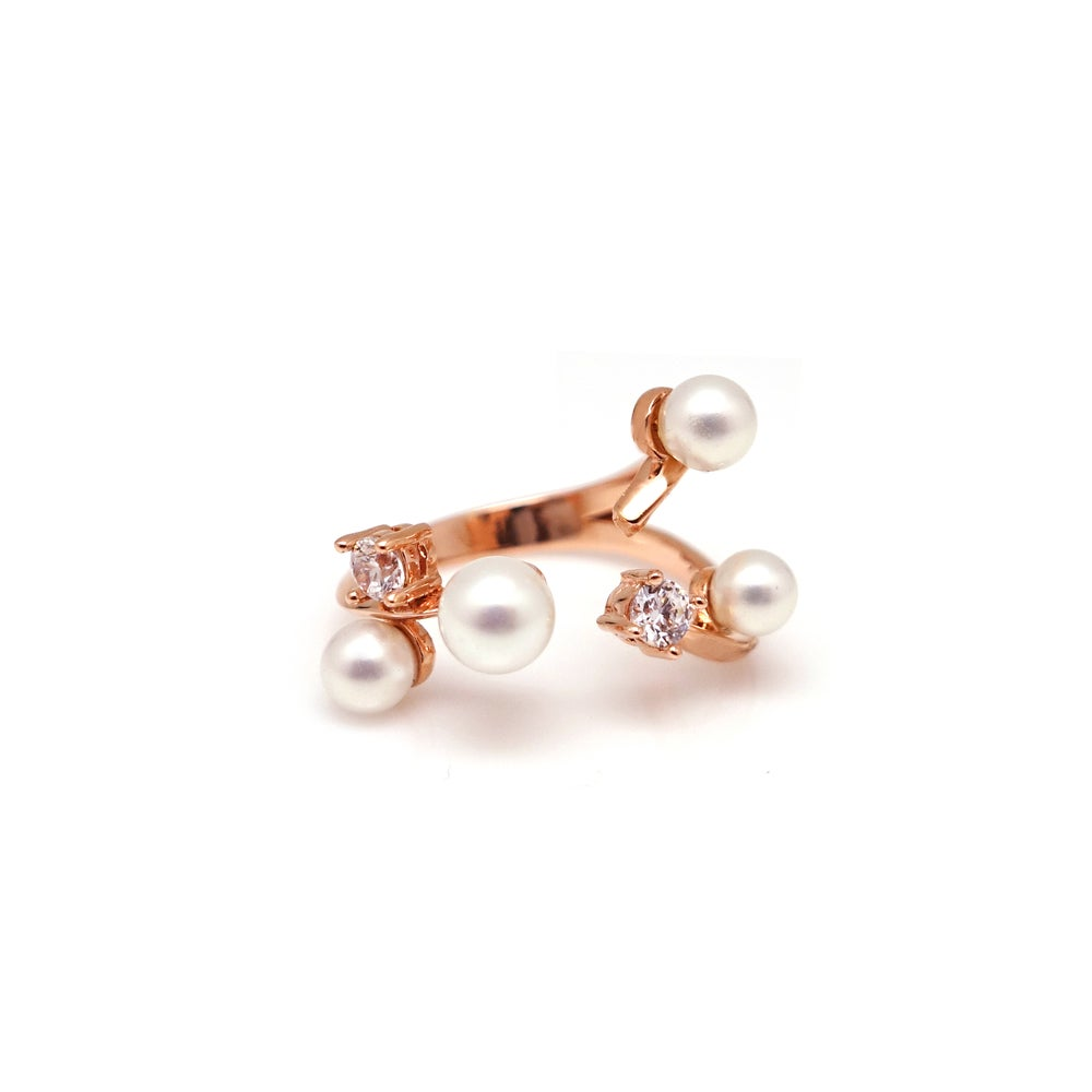 GISELLE PEARL STONE OPEN RING