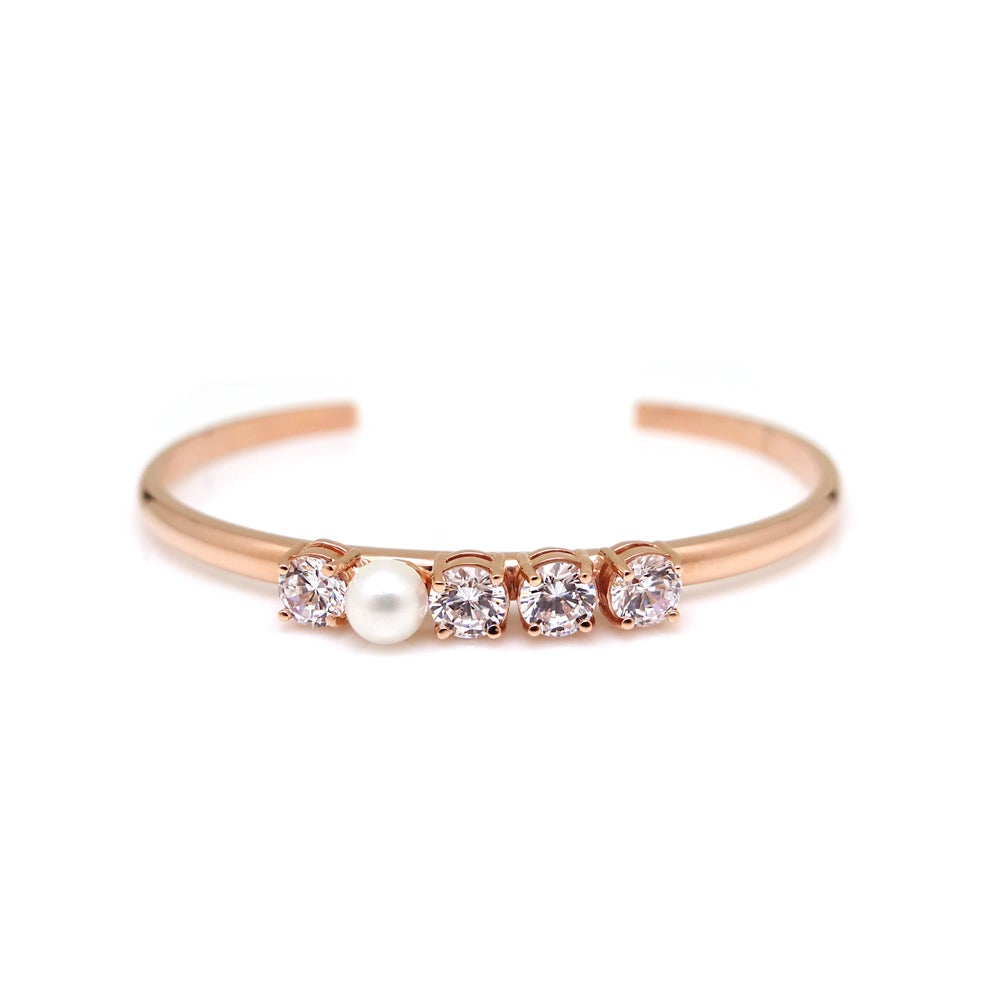 COCO PEARL STONE OPEN BANGLE