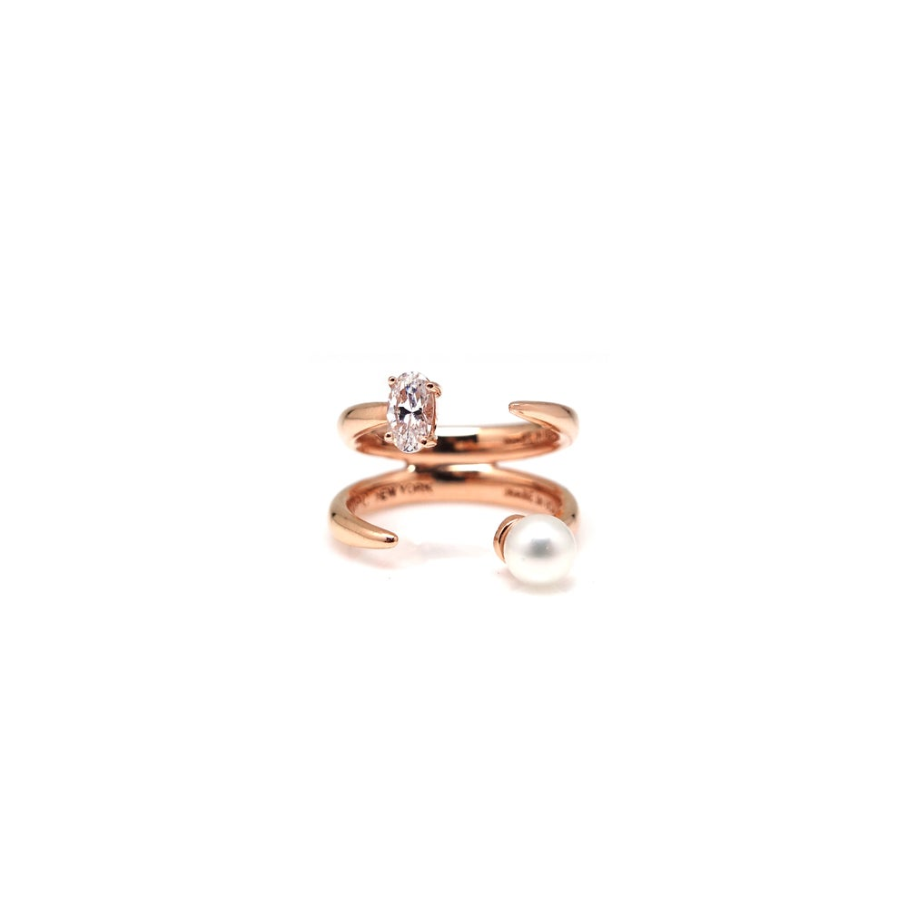ETOILE2 OVAL DBL KNUCKLE RING