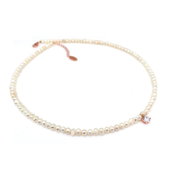 MATILDE STONE LITTLE PEARL  NECKLACE