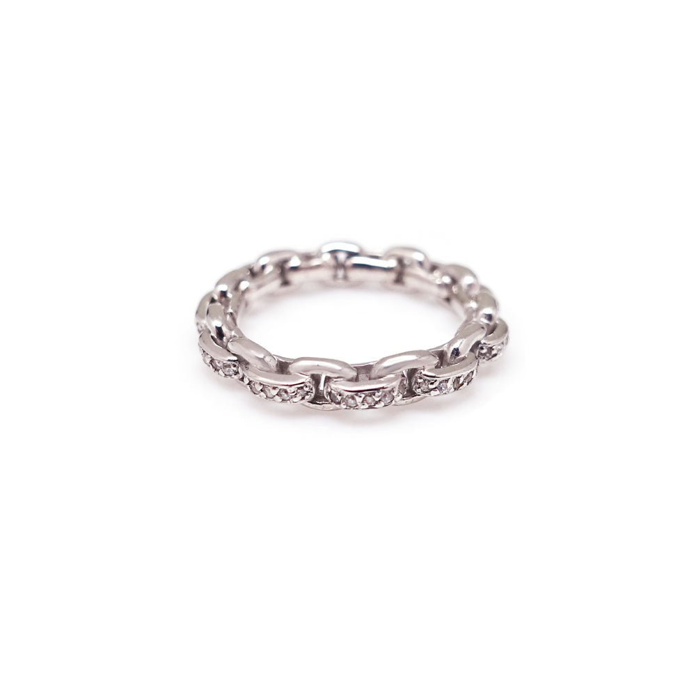 ESME PAVED CHAIN LINK RING