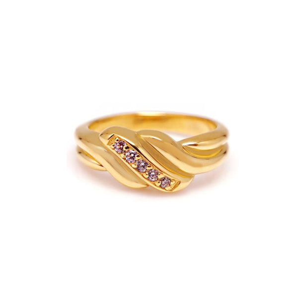 DAPHNE CROISSANT PAVED RING
