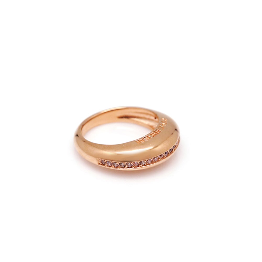 SMALL DONUT PAVED/PLAIN RING
