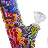 14 Graffiti Detachable Silicone Bong For Sale  Free Shipping  PB