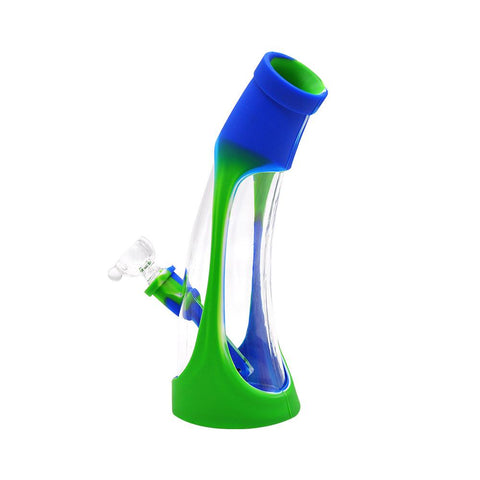 "8"" Horn Glass Silicone Bong 