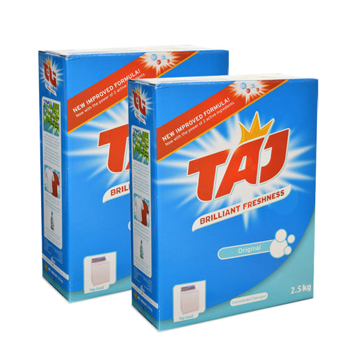 Taj Washing Powder Top Load Orignal 2.5Kg X 2 Pcs