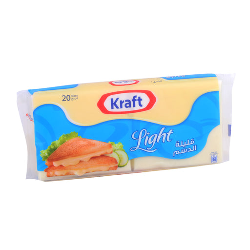 Kraft Cheddr Cheese Light Slices 400Gm