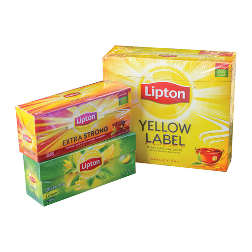 Litpton Yellow Label Tea Bag 100's + Extra Strong 24's + Green Tea Bag 24's