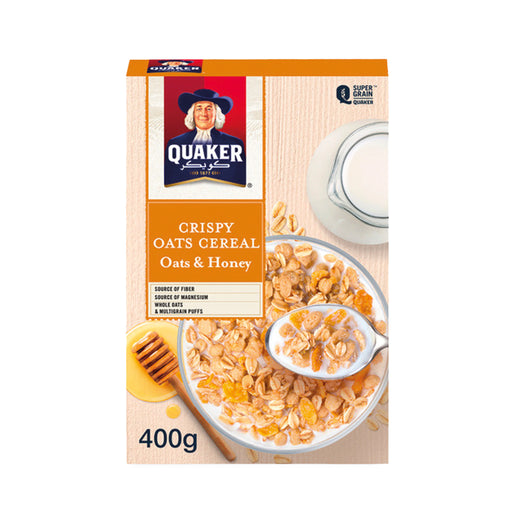Quaker Crispy Cereal Oats & Honey 400g