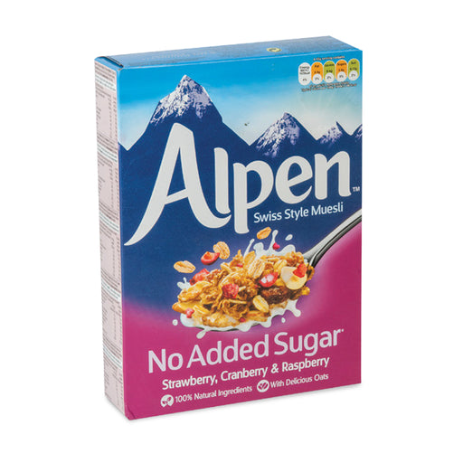 Alpen Breakfast Cereal Muesli Strawberry, Cranberry & Raspberry 560g