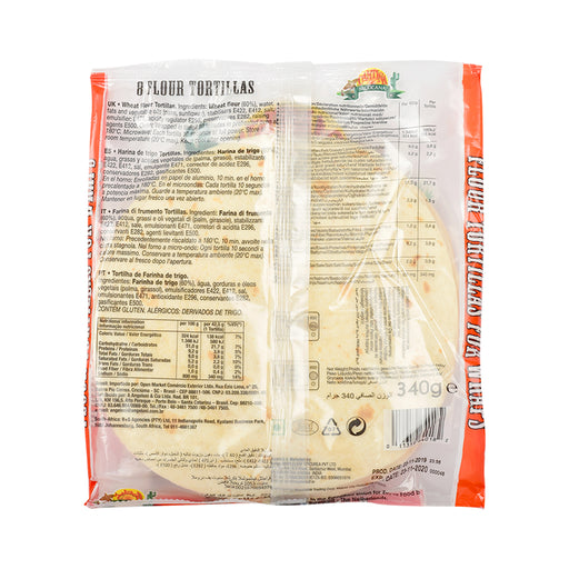 Cantina Mexicana Flour Tortillas 8's 340gm