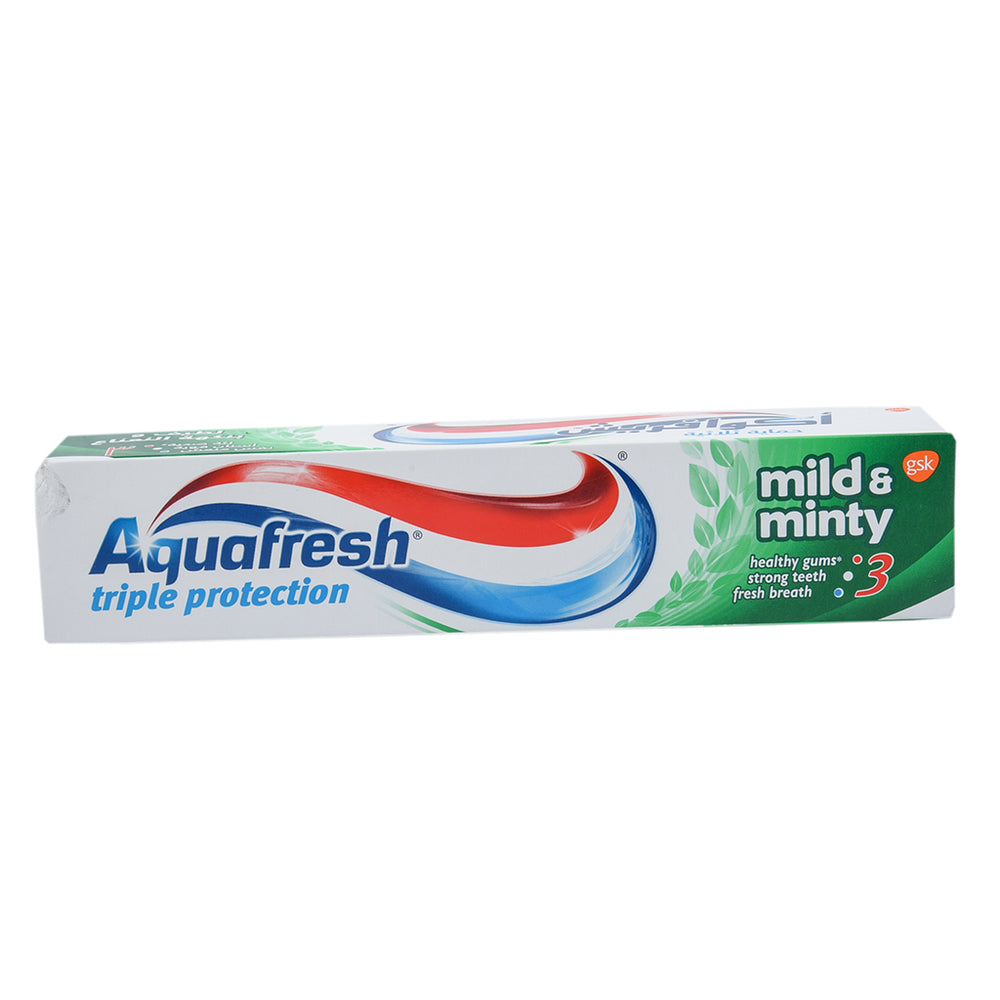 Aquafrsh Tooth Paste Mild & Minty Tube 125Ml