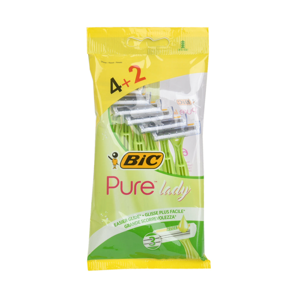 Bic Disposable Razors Pure3 Lady 4+2''S
