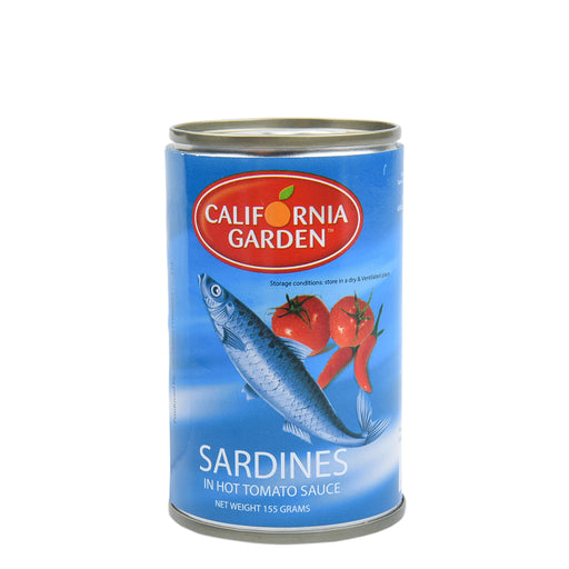 California Garden Sardines In Hot Tomato Sauce 155gm