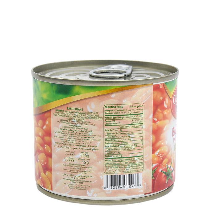 California Garden Baked Beans In Tomato Sauce 220gm