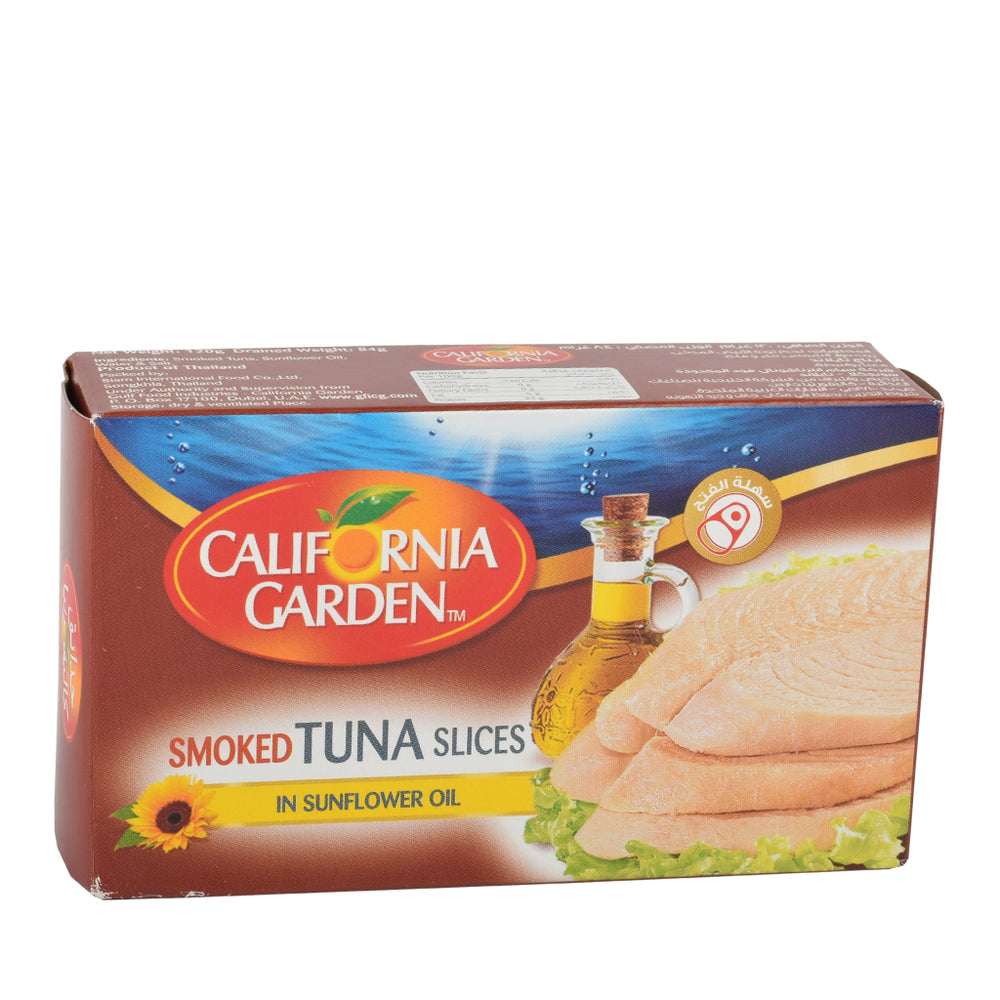 California Garden Smoked Tuna Slices In Sunflower Oil 120gm