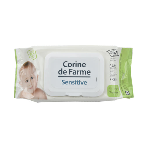 Corine De Farme Baby Wet Wipes Sensitive 62' S