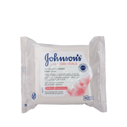 Johnson'S Daily  Essential Refresh Facial Cleansing  25 Wipes