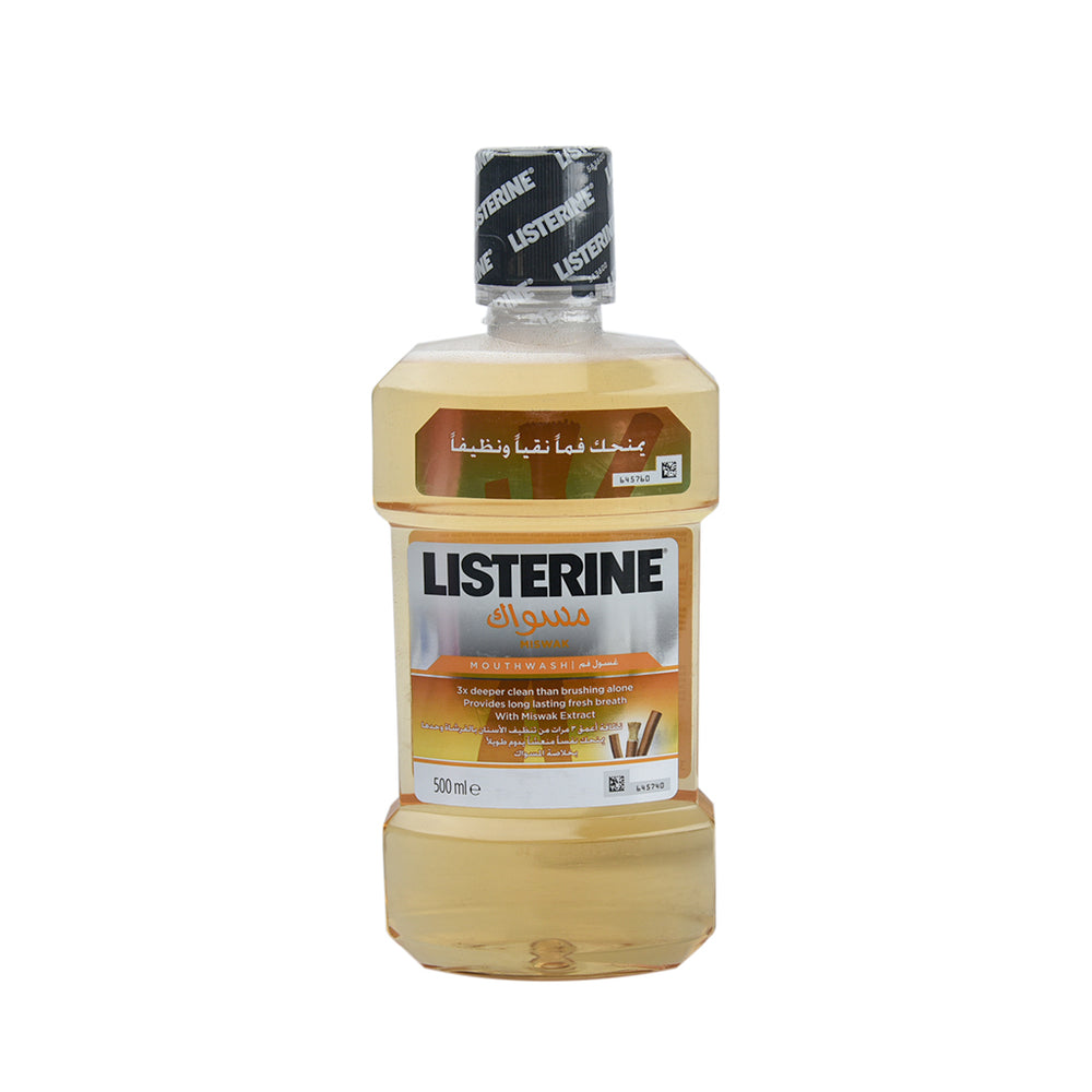 Listerin Mouth Wash Miswak 500Ml