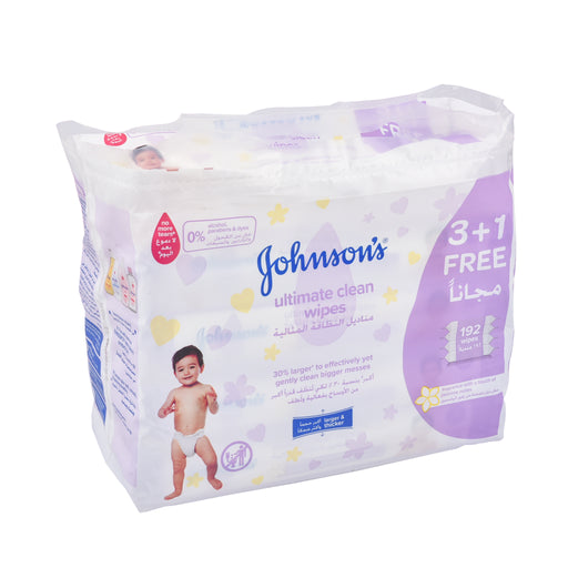 Johnson'S Ultimate Clean Wipes  48'S 3+1