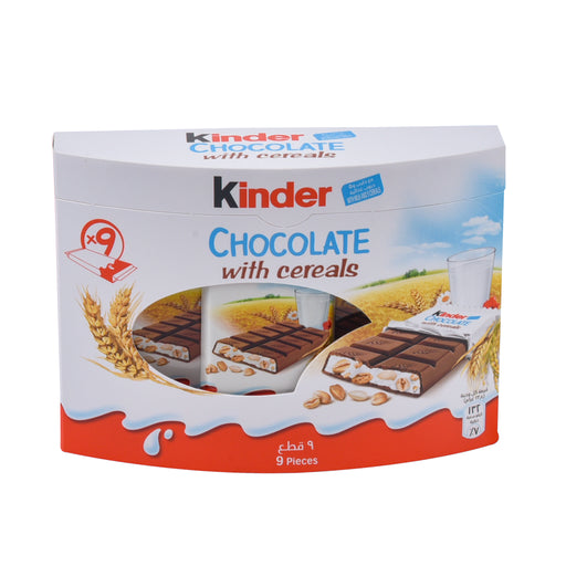 Ferrero Kinder Chocolate With Cereals 9x23g